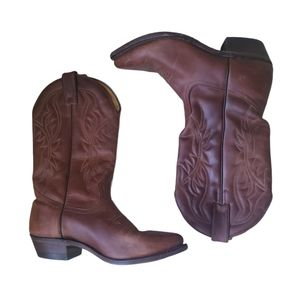 BOULET Brown Leather Mens 6.5 BOOTS
